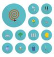 flat icons spray bottle wheelbarrow flowerpot vector image vector image