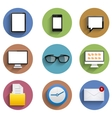 flat technology circle icon set Eps10 vector image
