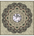 floral background with diamond jewel vector image vector image