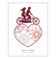 folk floral circles abstract couple on vector image vector image
