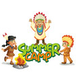 font design for word summer camp with kids in vector image vector image