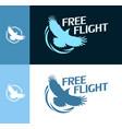 free flight - round logo vector image vector image