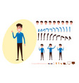 freelance character creation set for animation vector image vector image