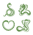 funny snakes vector image vector image