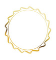 golden round frame element vintage stamp blank vector image vector image