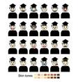 graduation reactions vector image