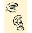 gramophone phone vector image vector image