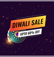 happy diwali sale banner template with crackers vector image vector image