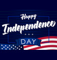 happy independencel day 4 july navy blue banner vector image vector image