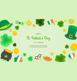 happy st patricks day invitation wallpaper vector image