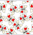 heart butterfly pattern vector image