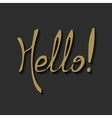 Hello Hand draw Lettering vector image