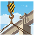 hi rise construction vector image vector image