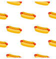 hot dogs pattern vector image vector image