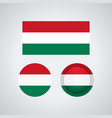 hungarian trio flags vector image