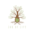 jar of life design concept with tree vector image vector image