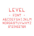 level font alphabet vector image