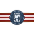 Memorial Day Sale greeting Banner and Ribbon vector image vector image