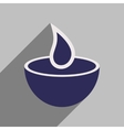 Modern flat icon with long shadow Indian candle vector image vector image