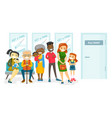 multicultural people waiting for a flu shot vector image vector image