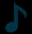 musical note composition icon of halftone bubbles vector image vector image