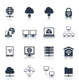 Network Icons Black vector image vector image