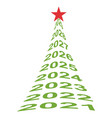new year tree numbers 2021 christmas tree vector image