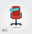 office chair and a sign vacant vector image vector image