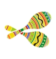 Pair of traditional Mexican brightly colored vector image vector image