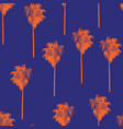 palm trees retro-style orange on a blue background vector image vector image