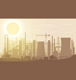 panoramic industrial silhouette landscape vector image vector image