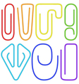 Paperclips set vector image vector image