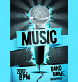 party flyer poster design template microphone vector image vector image