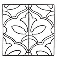 persian enamel pattern is a glass fusing decal vector image vector image