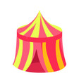 pink and yellow circus kiosk canopy fairy tale vector image vector image