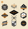 Premium and high quality labels vector image vector image