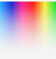 rainbow colored halftone abstract template vector image