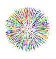 rainbow fireworks on white background vector image vector image