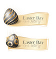 realistic easter day sale banner vector image