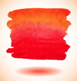 Red isolated watercolor paint banner