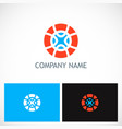 round geometry colored company logo vector image vector image