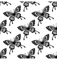 Seamless background pattern of flying butterflies vector image vector image