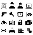 security safety and crime icons vector image vector image