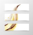 set banner swoosh design vector image vector image