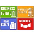set colorful real estate emblems vector image