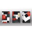 set minimal cover design modern template vector image vector image