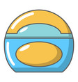soap dish icon cartoon style vector image
