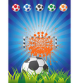 Soccer Backgrounf vector image vector image