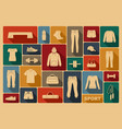 sports clothing equipment and accessories vector image vector image