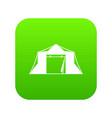 tent icon digital green vector image vector image